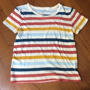 Striped, cropped Madewell tee